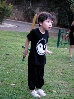 ילד עם חרב קונג פו