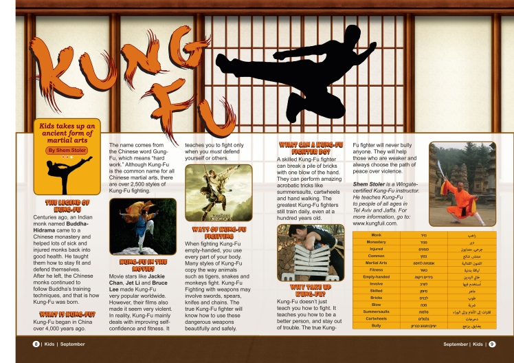 the dragon heart way kung fu artical on the jerusalem post